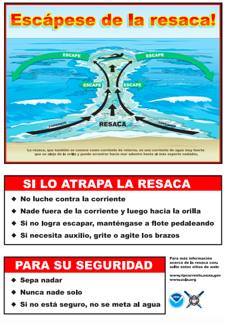Rip Currents Spanish