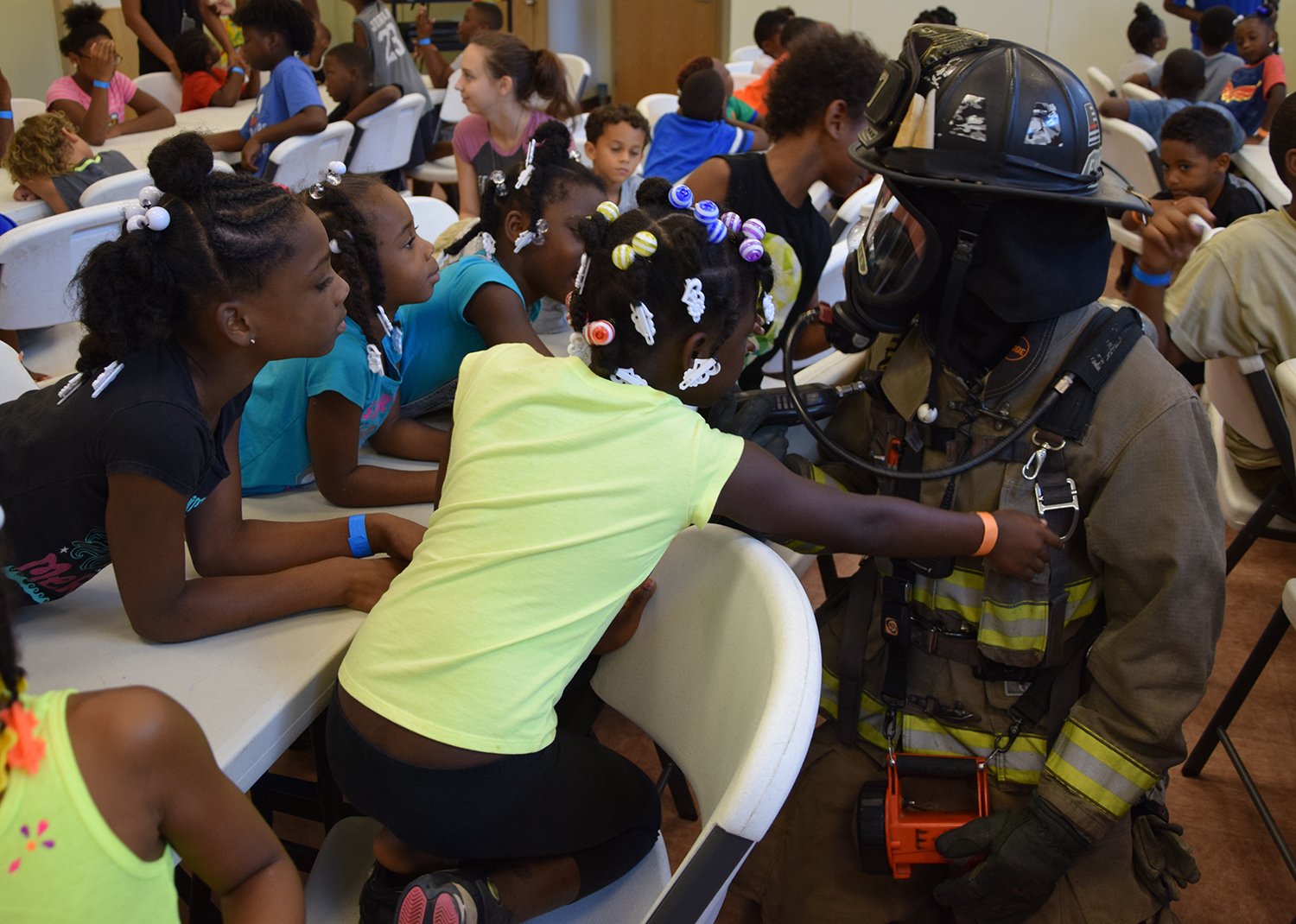 Escambia Fire Rescue Crews Teach Safety at Ebonwood Summer Camp