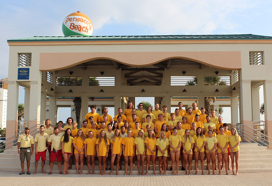Group photo of Pensacola Beach Lifeguards