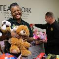 Escambia County Corrections staff collected toys to be distributed by Toys for Tots to children in need.