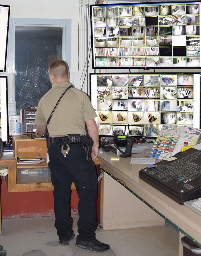 Jail Personnel Video Monitors