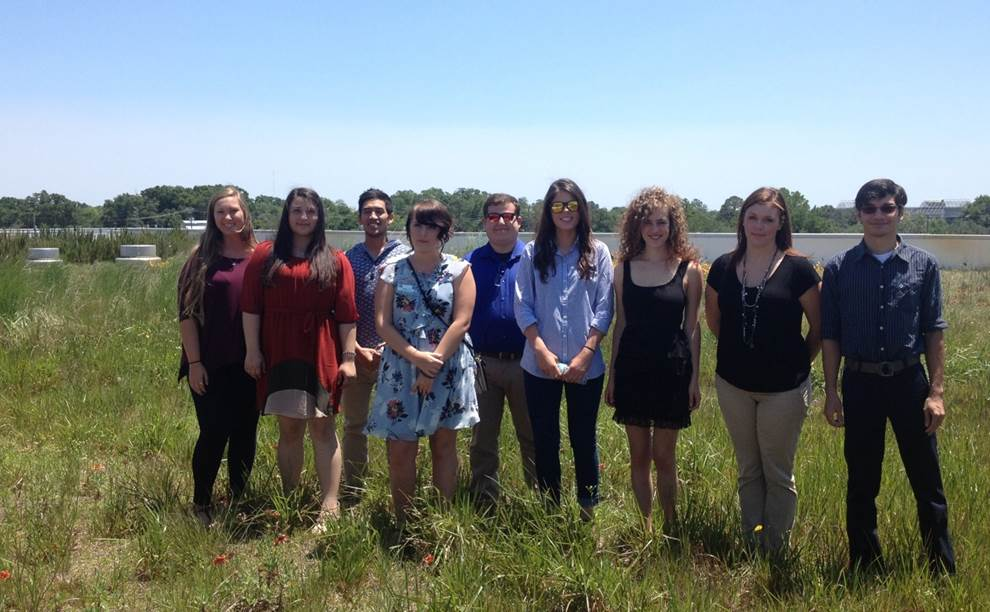 WQLM Interns on Green Roof