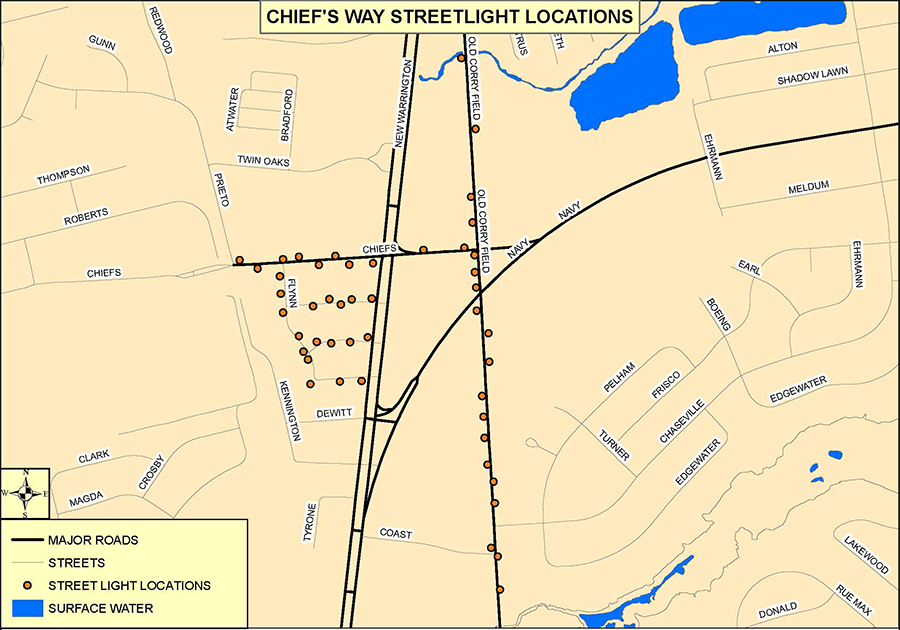 Warrington CRA Lighting Project Map